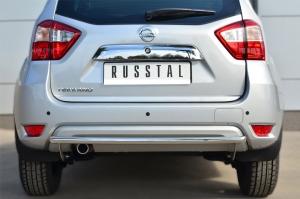 Nissan Terrano 2014-  Защита заднего бампера d42 (дуга) NTRZ-001796